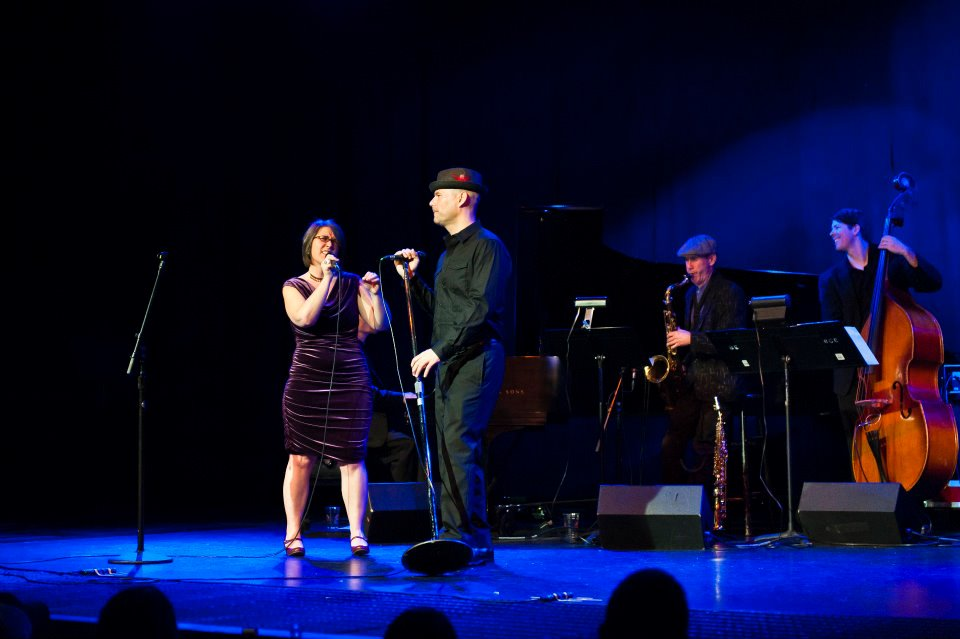 Billy Brandt with Carrie Wicks at the Big Gig